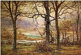 John Ottis Adams Autumn on the Whitewater painting