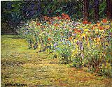 John Ottis Adams Flower Border painting