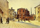 Venice paintings - Campo Dei Gesuiti by John Singer Sargent