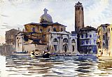 Venice paintings - Palazzo Labbia Venice by John Singer Sargent