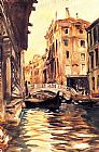 Venice paintings - Ponte della Canonica by John Singer Sargent