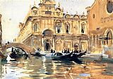 Venice paintings - Rio dei Mendicanti by John Singer Sargent