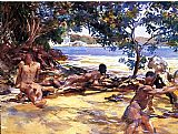 John Singer Sargent The Bathers painting
