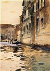 Venice paintings - Venetian Canal Palazzo Corner by John Singer Sargent