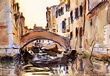 Venice paintings - Venetian Canal by John Singer Sargent
