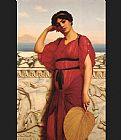John William Godward A Classical Lady painting