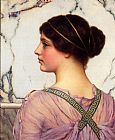 John William Godward A Grecian Lovely painting