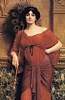 John William Godward A Roman Matron painting