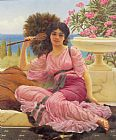 John William Godward Flabellifera painting