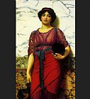 John William Godward Grecian Idyll painting