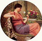John William Godward The Time of Roses painting