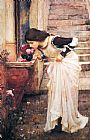 John William Waterhouse At the Shrine painting