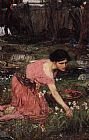 john william waterhouse Paintings - Flora