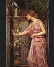 John William Waterhouse Psyche Entering Cupid's Garden painting