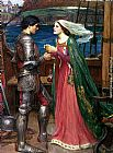 John William Waterhouse Tristan and Isolde with the Potion painting