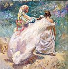 Jose Royo EN LA PLAYA painting