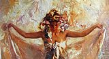 Jose Royo after bath painting