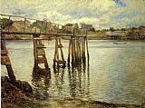 Joseph DeCamp Jetty at Low Tide aka The Water Pier painting
