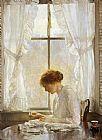 Joseph DeCamp The Seamstress painting