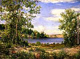 Joseph Kleitsch A View Across the Lake, Saugatuck, Michigan painting