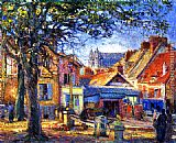 eze cote dazur france Paintings - Ancient and Modern Normandie, Vernon, France