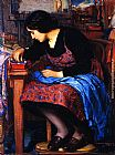 Joseph Kleitsch Blue Thread painting