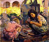 Joseph Kleitsch Curiosity (Mission San Juan Caistrano) painting