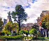 Joseph Kleitsch Gardens of the Tuileries, the Louvre painting