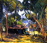 Joseph Kleitsch Green House, Laguna Beach painting