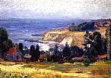 Joseph Kleitsch Laguna Coastline and Saint Joseph's church painting