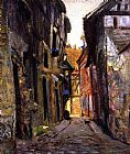 eze cote dazur france Paintings - Ruelle Malot, Vernon, France