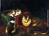 Joseph Kleitsch The Angora Cats painting