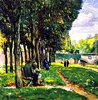 eze cote dazur france Paintings - The Park in Vernon, France