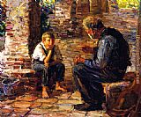Joseph Kleitsch The Story Teller painting