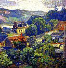 eze cote dazur france Paintings - The Valley of the Seine, Vernon, France