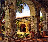 Joseph Kleitsch Through the Arches, Mission San Juan Capistrano painting