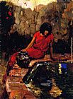 Joseph Kleitsch Woman at the Well painting