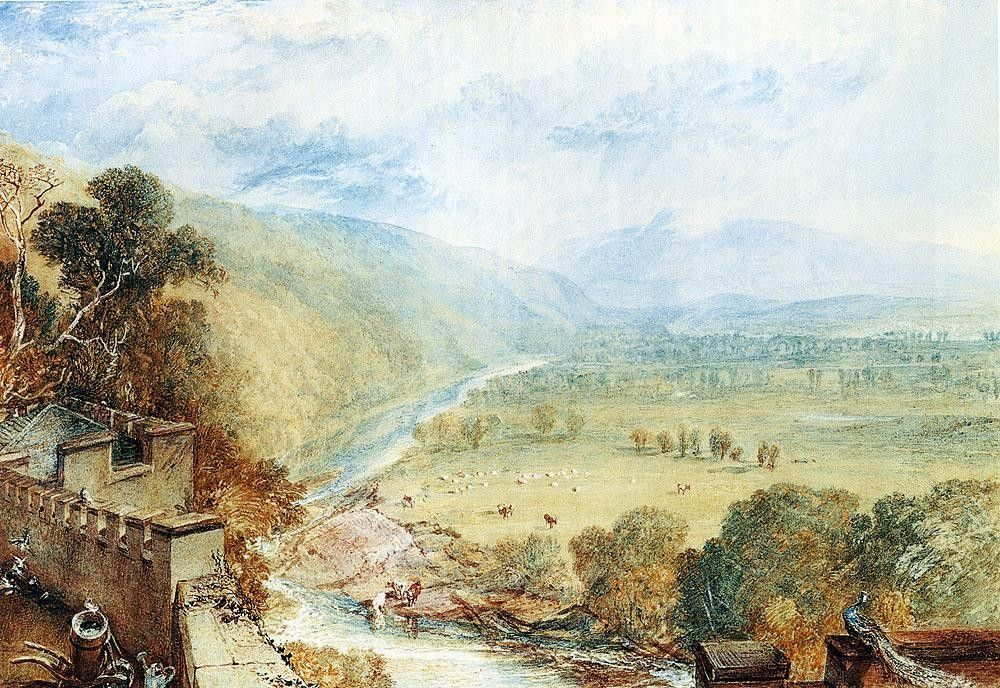 Joseph Mallord William Turner Ingleborough From The Terrace Of Hornby Castle