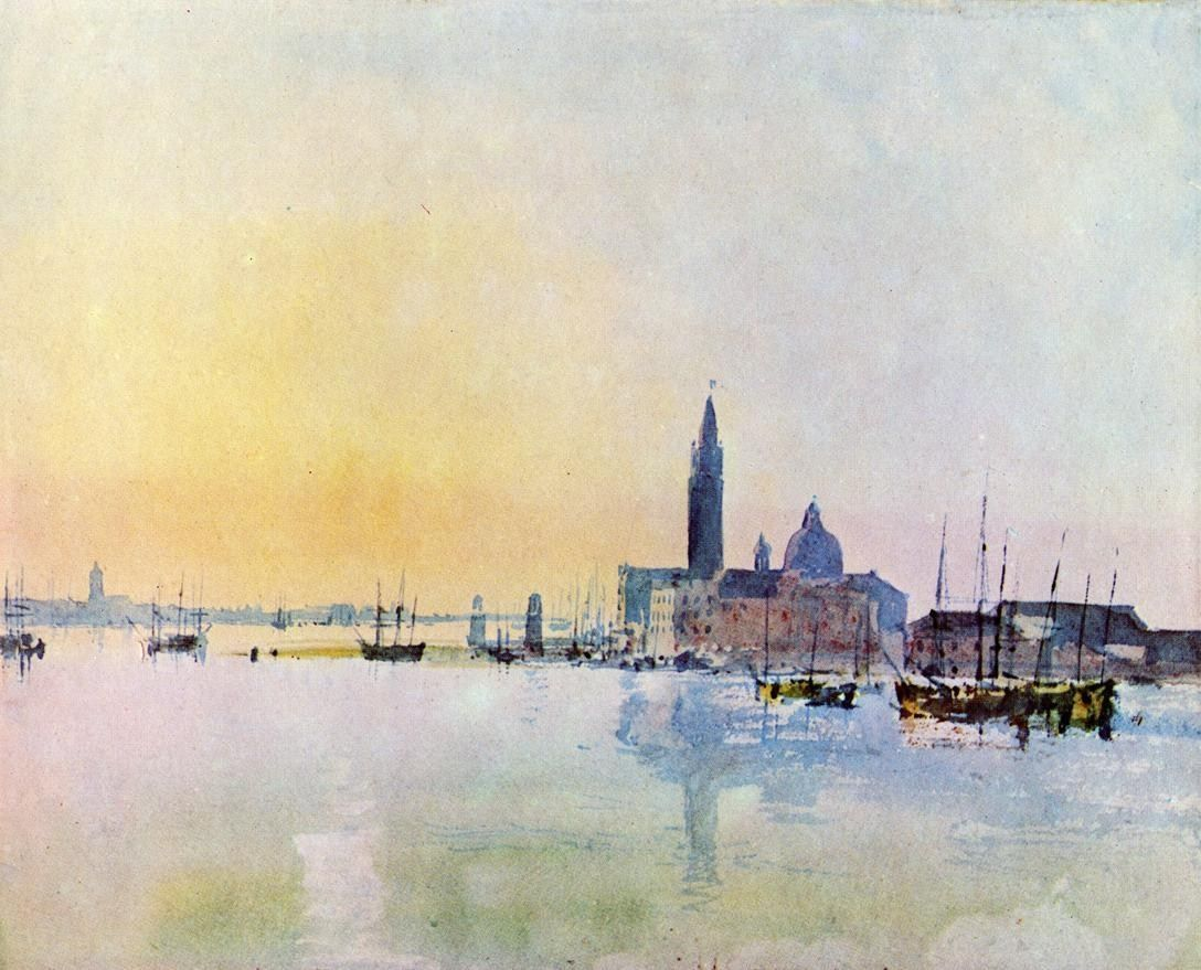 Joseph Mallord William Turner Venice San Guirgio from the Dogana Sunrise