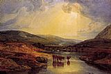Joseph Mallord William Turner Abergavenny Bridge Monmountshire clearing up after a showery day painting