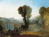 Joseph Mallord William Turner Ariccia Sunset painting