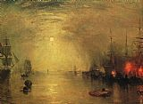 Joseph Mallord William Turner Keelman Heaving in Coals by Night painting