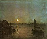 Joseph Mallord William Turner Moonlight A Study at Millbank painting
