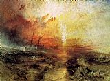 Seascapes paintings - The Slave Ship by Joseph Mallord William Turner