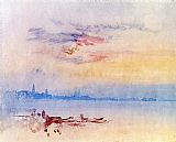 Joseph Mallord William Turner Venice Looking East from the Guidecca Sunrise painting