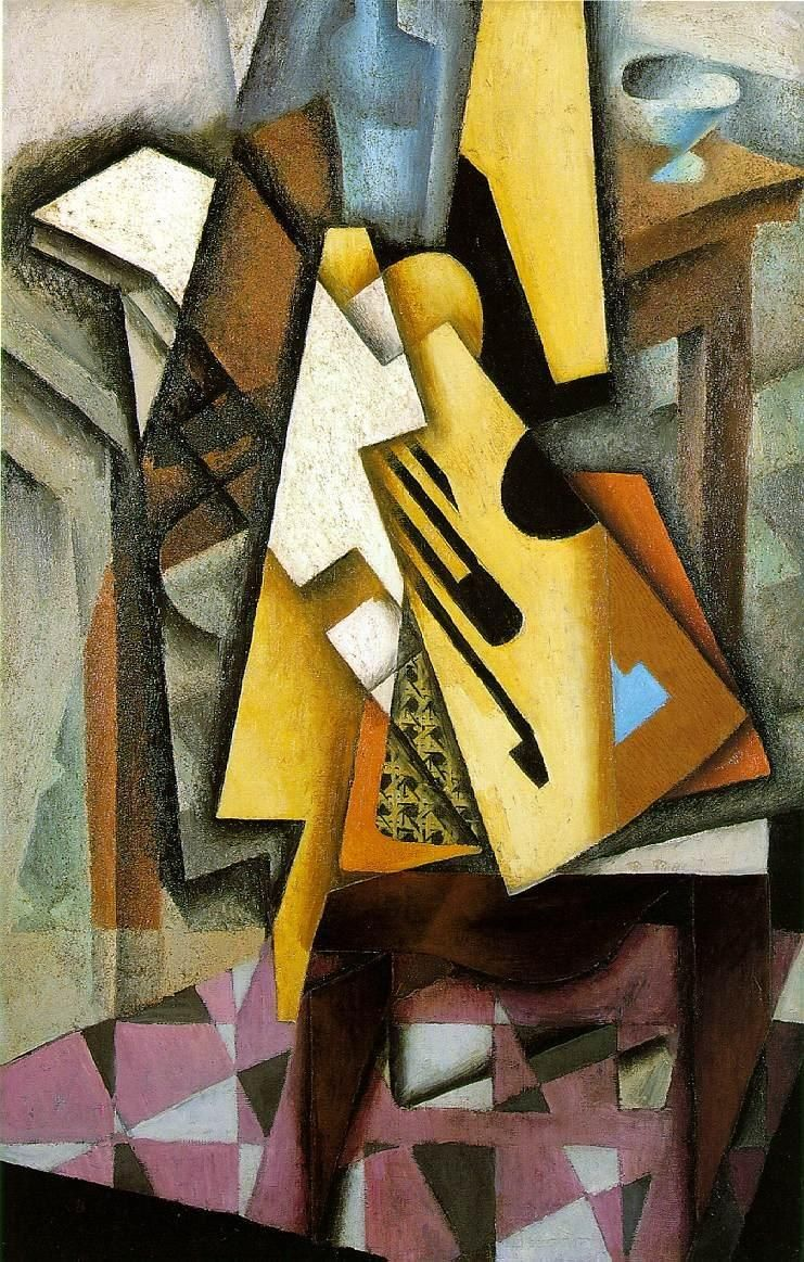 Juan Gris Guitar on a Chair