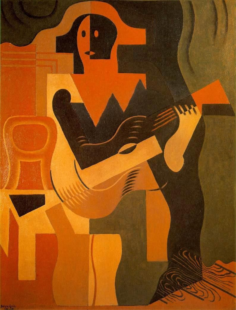 Juan Gris Harlequin with Guitar
