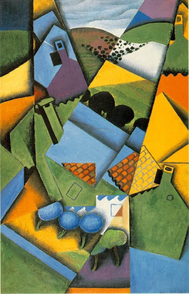 Juan Gris Landscape with Houses at Ceret