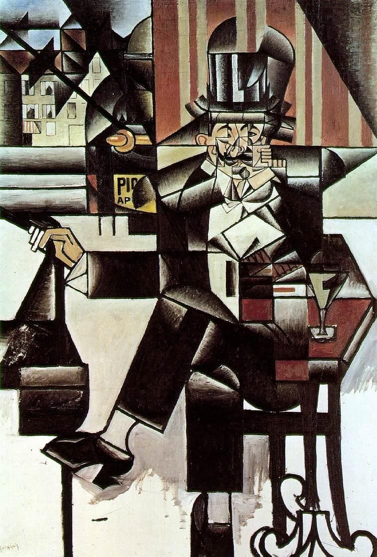 Juan Gris Man in the Cafe