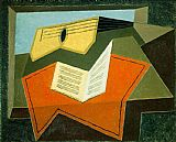 Juan Gris Guitar and Music Pape painting